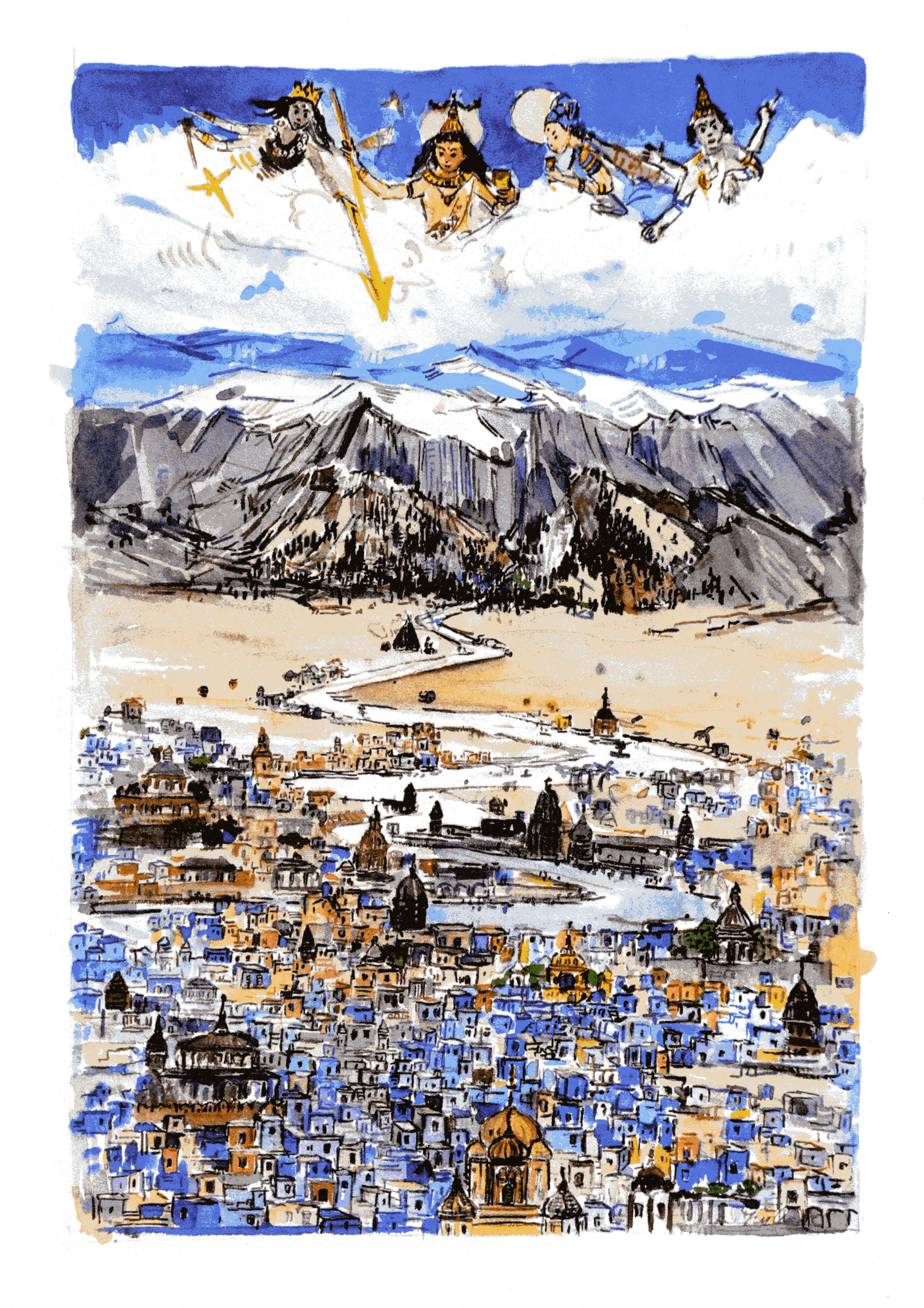 """Agnės Juškaitės iliustracijų V. Krėvės knygai """"Tales from the East"""" paroda 2019 05 15 – 2019 06 12"""